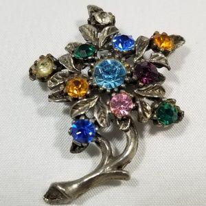 Vintage custom brooch pin jewelry flower